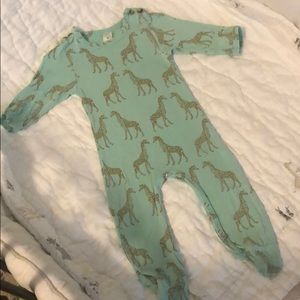 Kate Quinn Organics Giraffe Footed One Piece